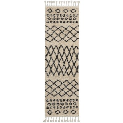 Beaulah Shag Cream Area Rug Rug Size: Runner 22 x 81