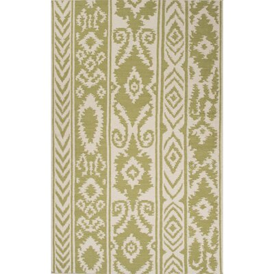 Terrence Hand-Woven Wool Green/Ivory Area Rug Rug Size: Rectangle 8 x 10