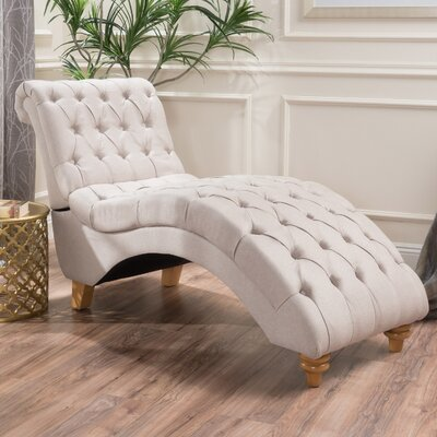 Almonburry Fabric Chaise Lounge Upholstery: Medium Beige