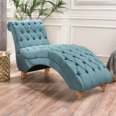Almonburry Fabric Chaise Lounge Upholstery: Dark Teal