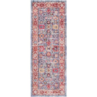Turner Vintage Blue/Red Area Rug Rug Size: Rectangle 2 x 3