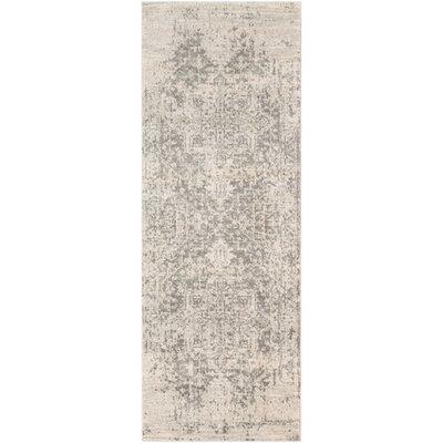 Andover Vintage Floral Black/Beige Area Rug Rug Size: Runner 27 x 103