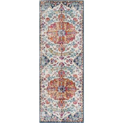 Andover Vintage Floral Saffron Area Rug Rug Size: Runner 27 x 103