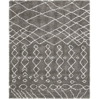 Bourne Machine woven  Gray Area Rug Rug Size: 8  x 10