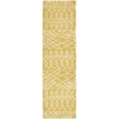 Bourne  Yellow Area Rug Rug Size: Runner 2 7 x 10
