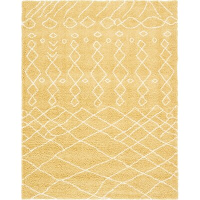 Bourne  Yellow Area Rug Rug Size: 9 0 x 12