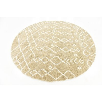 Bourne Machine woven Taupe Area Rug Rug Size: 8 x 8