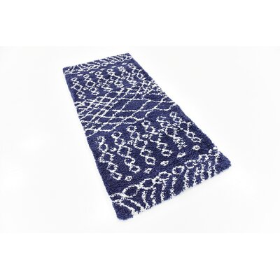 Bourne Machine woven Navy Blue Area Rug Rug Size: Rectangle 2 7 x 6 0