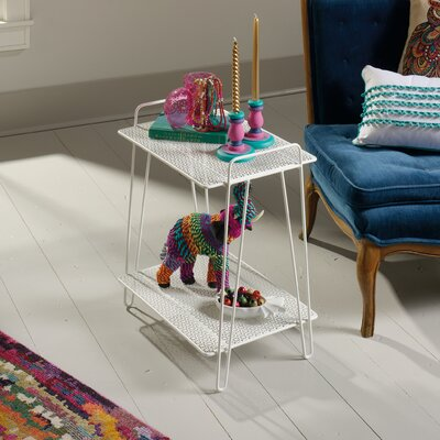 Naquin End Table Color: White