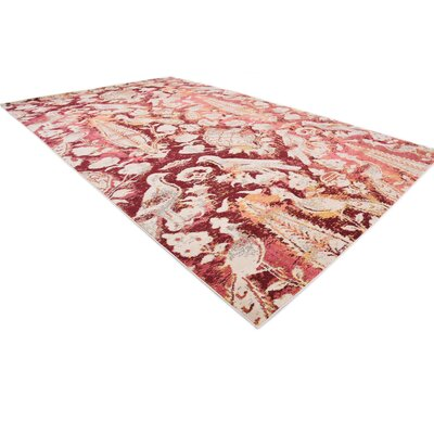 Roshan Red Area Rug Rug Size: Rectangle 8 x 11
