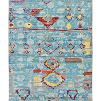 Rune Blue Area Rug Rug Size: Rectangle 5 x 8