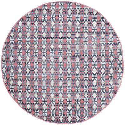 Saleem Hand-Woven Coral Area Rug Rug Size: Round 6