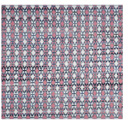 Saleem Hand-Woven Coral Area Rug Rug Size: Square 4