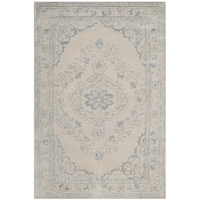 Samaniego Hand-Tufted Light Gray Area Rug Rug Size: Square 6
