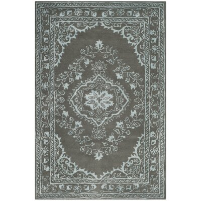 Samaniego Hand-Tufted Dark Gray Area Rug Rug Size: Rectangle 4 x 6