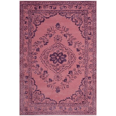 Samaniego Hand-Tufted Pink Area Rug Rug Size: Rectangle 4 x 6