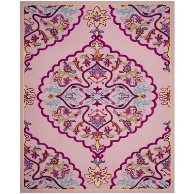 Blokzijl Hand-Tufted Pink Area Rug Rug Size: Rectangle 8 x 10