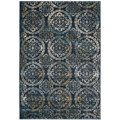 Florentin Navy Area Rug Rug Size: Rectangle 4 x 6