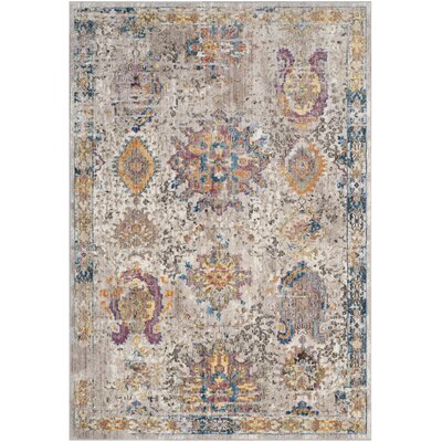 Hays Cream/Light Gray Area Rug Rug Size: Rectangle 3 x 5