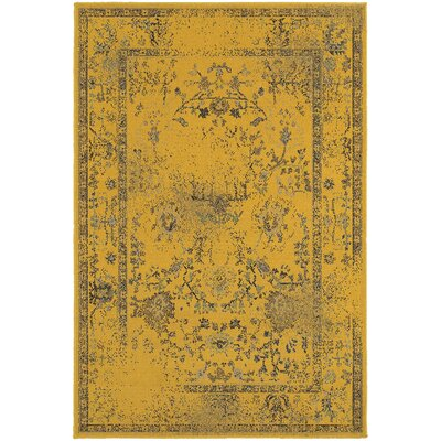 Raiden Gold/Gray Area Rug Size: Rectangle 67 x 96