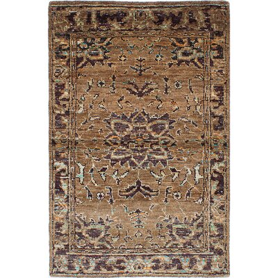 One-of-a-Kind Brewster Hand-Knotted Light Brown Area Rug