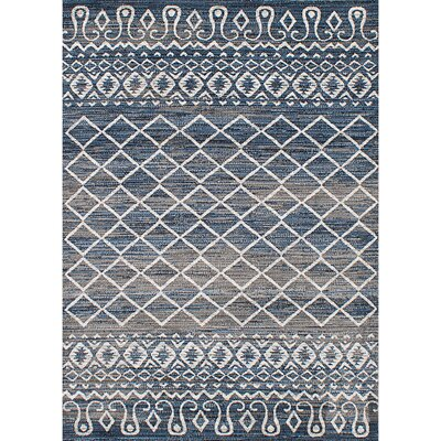 Harrelson Gray/Navy Blue Area Rug