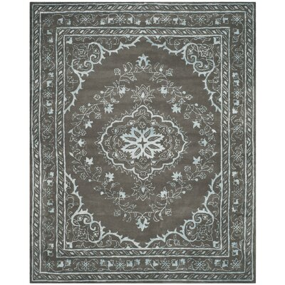 Samaniego Hand-Tufted Dark Gray Area Rug Rug Size: Rectangle 8 x 10