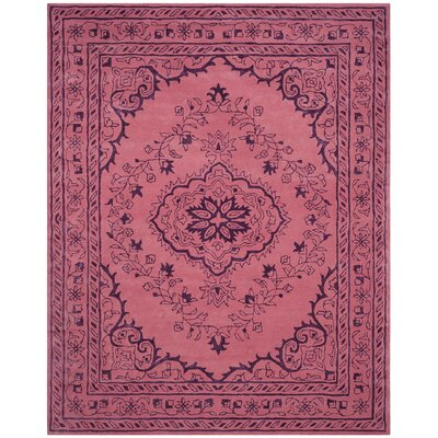 Samaniego Hand-Tufted Pink Area Rug Rug Size: Rectangle 8' x 10'