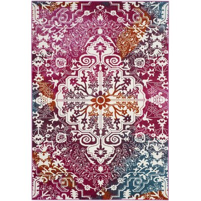 Shaurya Beige/Pink Area Rug Rug Size: Rectangle 4' x 6'
