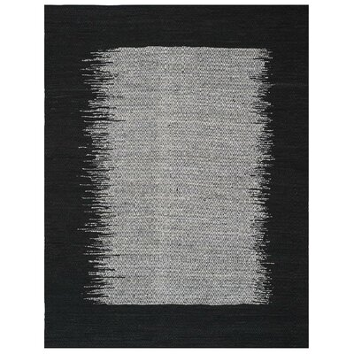 Logan Hand-Woven Light Gray Area Rug Rug Size: Rectangle 4 x 6
