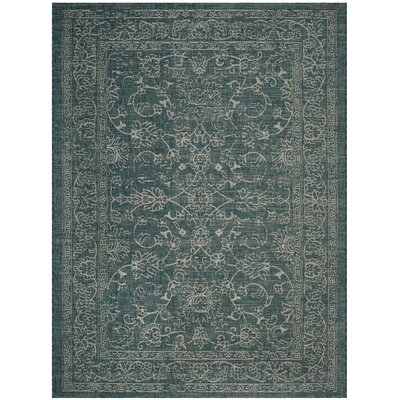 Haddad Blue/Gray Area Rug Rug Size: Rectangle 8 x 11