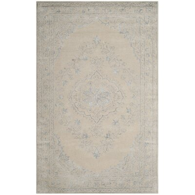 Samaniego Hand-Tufted Light Gray Area Rug Rug Size: Rectangle 5 x 8