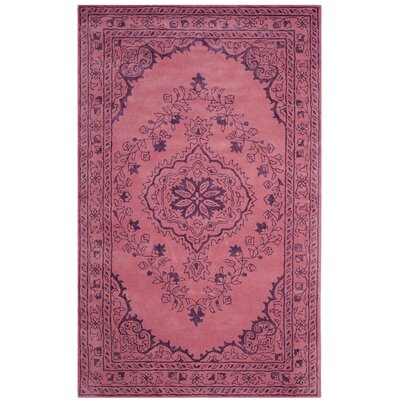 Samaniego Hand-Tufted Pink Area Rug Rug Size: Rectangle 5 x 8