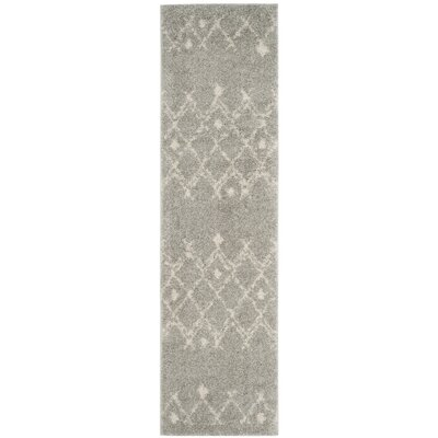 Saira Light Gray/Cream Area Rug Rug Size: Runner 2'3