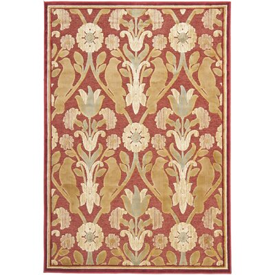 Saint-Michel Red Area Rug Rug Size: Rectangle 4 x 57