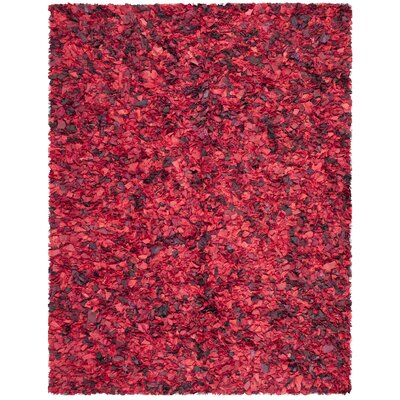 Messiah Red Shag Rug Rug Size: Rectangle 8 x 10