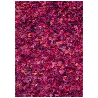 Messiah Fuchsia Shag Area Rug Rug Size: Rectangle 4 x 6