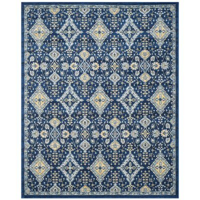 Ameesha Blue Area Rug Rug Size: Rectangle 8 x 10