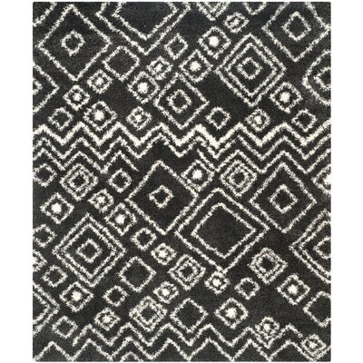 Messiah Charcoal/Ivory Area Rug Rug Size: Rectangle 8 x 10