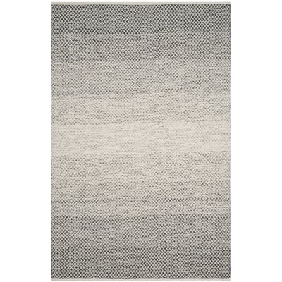 Figuig Hand-Woven Black/Ivory Area Rug Rug Size: Rectangle 6 x 9