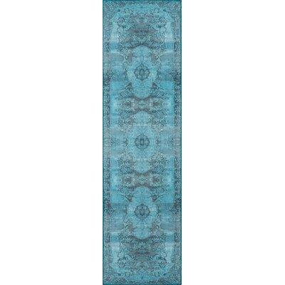 Varian Blue Area Rug Rug Size: Runner 23 x 76