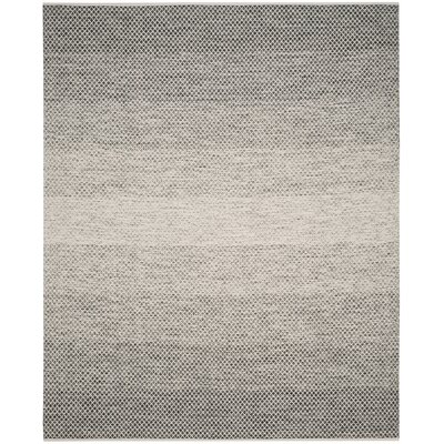 Figuig Hand-Woven Black/Ivory Area Rug Rug Size: Square 6