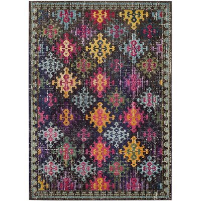 Crosier Green/Pink Area Rug Rug Size: Rectangle 9 x 12