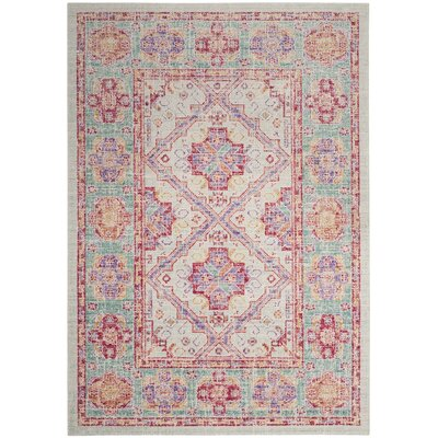 Hester Gray/Beige Area Rug Rug Size: Rectangle 51 x 76