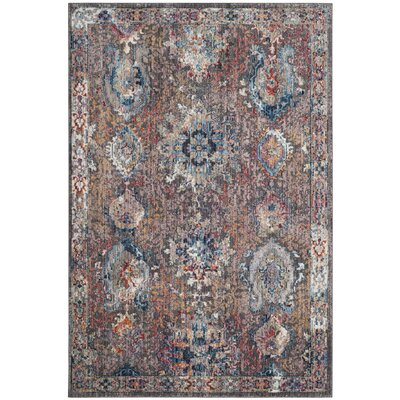 Hays Dark Gray/Blue Area Rug Rug Size: Rectangle 51 x 76