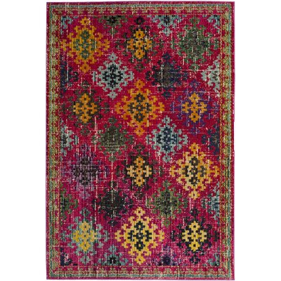 Chana Fuchsia Area Rug Rug Size: Rectangle 4 x 57