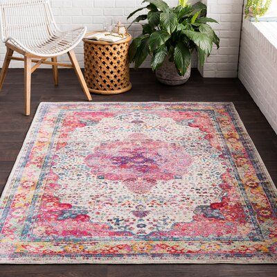 Tillamook Rose/Beige Area Rug Rug Size: Rectangle 2 x 3