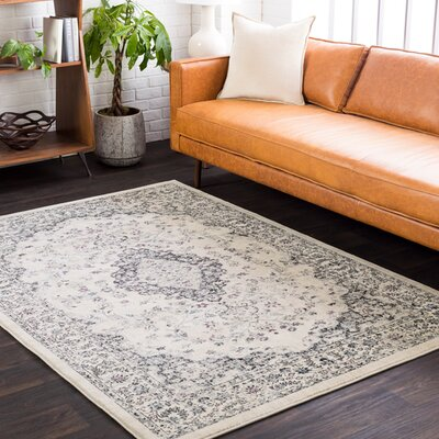 De Funiak Springs Cream/Black Area Rug Rug Size: Rectangle 53 x 76