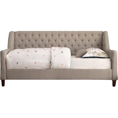 Pennington Twin Size Tufted Daybed Color: Beige