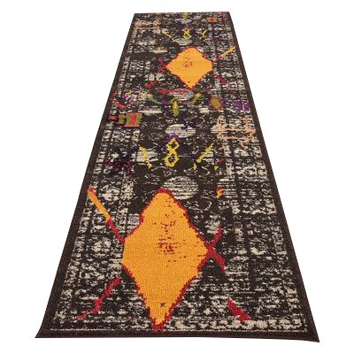 Phillips Brown Area Rug Rug Size: Runner 27 x 10
